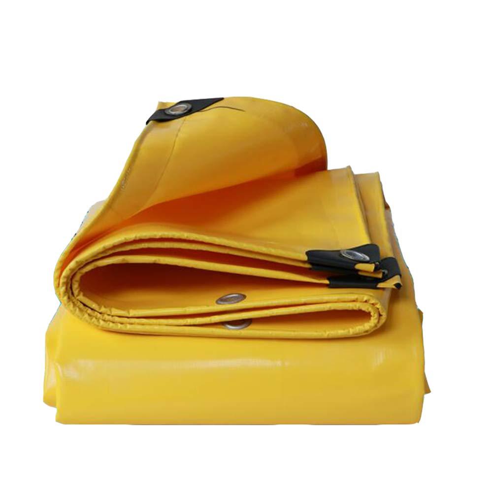 DALL ターポリン 多目的 ヘビーデューティー タープ 防水 サンシェード アウトドア キャンプ 500g /m² (色 : イエロー いえろ゜, サイズ さいず : 3*6m) 3*6m イエロー いえろ゜ B07KQSX1NB