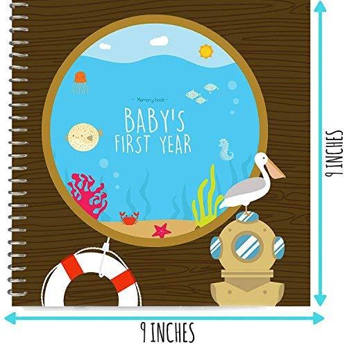 [해외]Baby´s First Year Hardcover Memory Book Under The Sea Edition - Newborn Babies 1st Year Journal and Milestones Photo Album - Perfect and Unique Gift Idea for Baby Showers and Birthday Presents / Baby´s First Year Hardcover Memory...