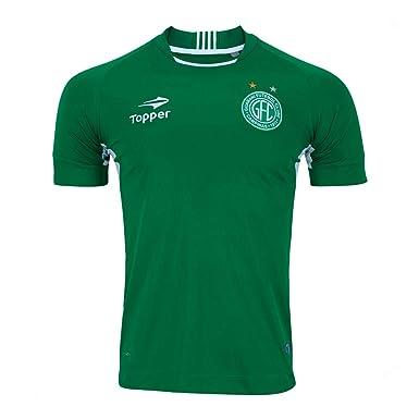 Camisa Topper 1 Sn Guarani Futebol Clube 2017 Verde branco  Amazon ... fe1b63bb9c82f