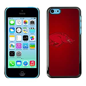 Impact Case Cover with Art Pattern Designs FOR iPhone 5Cs Arkansas Hogs Razorback Football Betty shop