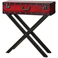 Uttermost 24379 Taggart Console Table, Red