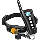 Cheap FunniPets Dog Shock Collar with Remote, 2018 Upgraded 1000ft Remote Dog Training Collar Waterproof Rechargeable E Collar with Beep, Vibration and Shock Modes for Small Medium Large Dog