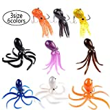#2: East Rain Artficial Octopus Jig Head Long Tail Soft Lead Skirted Lure Saltwater Fishing Big Game (PVC,3.54/7.87/9.45inch,0.81/6.35/9.88oz,Mulit-Colors Option)
