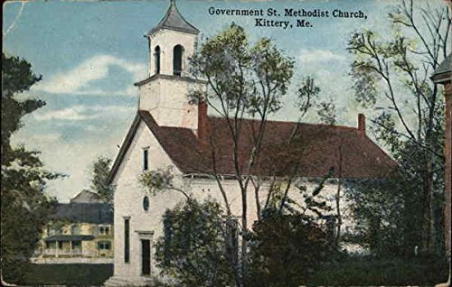 Government St. Methodist Church Kittery, Maine Original Vintage - Kittery Stores