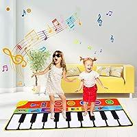 Miavogo Musikmatte für Kinder, Tanzmatte Piano Mat 8 Einstellbare Lautstärke + 8 Instrumenten + 10 Keyboard Musik...