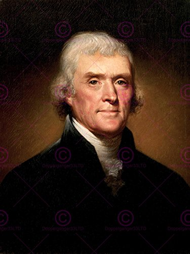 PAINTING ILLUSTRATION FOUNDING FATHER PRESIDENT THOMAS JEFFERSON 18X24'' POSTER ART PRINT LV10537