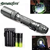 Usstore 1PC Flashlight Zoomable 4000 Lumen 5 Modes XML T6 LED Torch Lamp Light 18650 Charger for household outdoor activities hiking night fishing camping