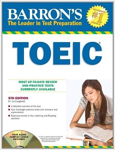 Toeic (Barron's Toeic) (Barron's TOEIC (W/CD))