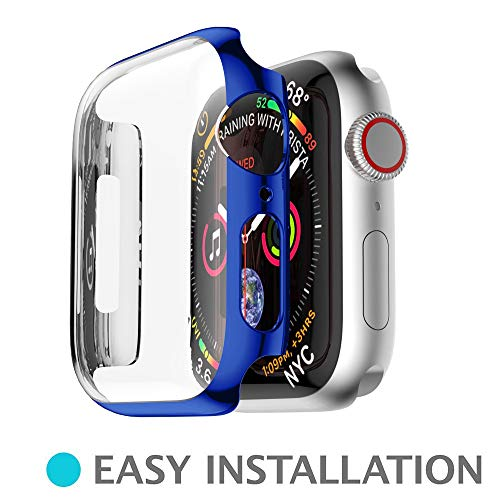 ZTY66 Case for Apple Watch Series 4 40mm//44mm, Soft Ultra Thin PC Plating All-Around Protective Bumper Case Cover for Apple Watch Series 4 40mm/44mm (Blue, Apple Watch 4 44mm) by ZTY66_Protection Case Cover (Image #6)