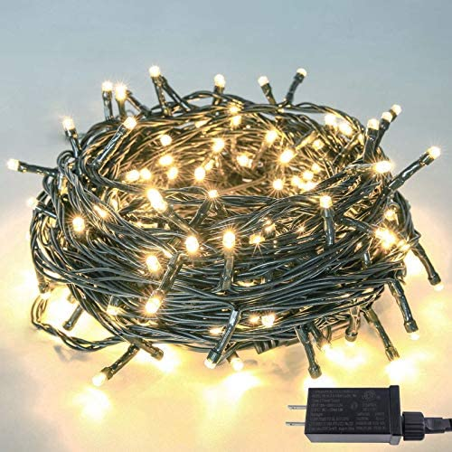 Upgraded 82FT 200 LED Christmas String Lights Outdoor/Indoor (Extendable Green Wire, Ultra-Bright with 8 Modes, UL Certified), Fairy String Lights for Xmas Tree Holiday Party Decoration, Warm White