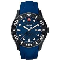 Swiss Military Hanowa Men's Oceanic 06-4170-13-003 Blue Rubber Swiss Quartz Watch with Blue Dial