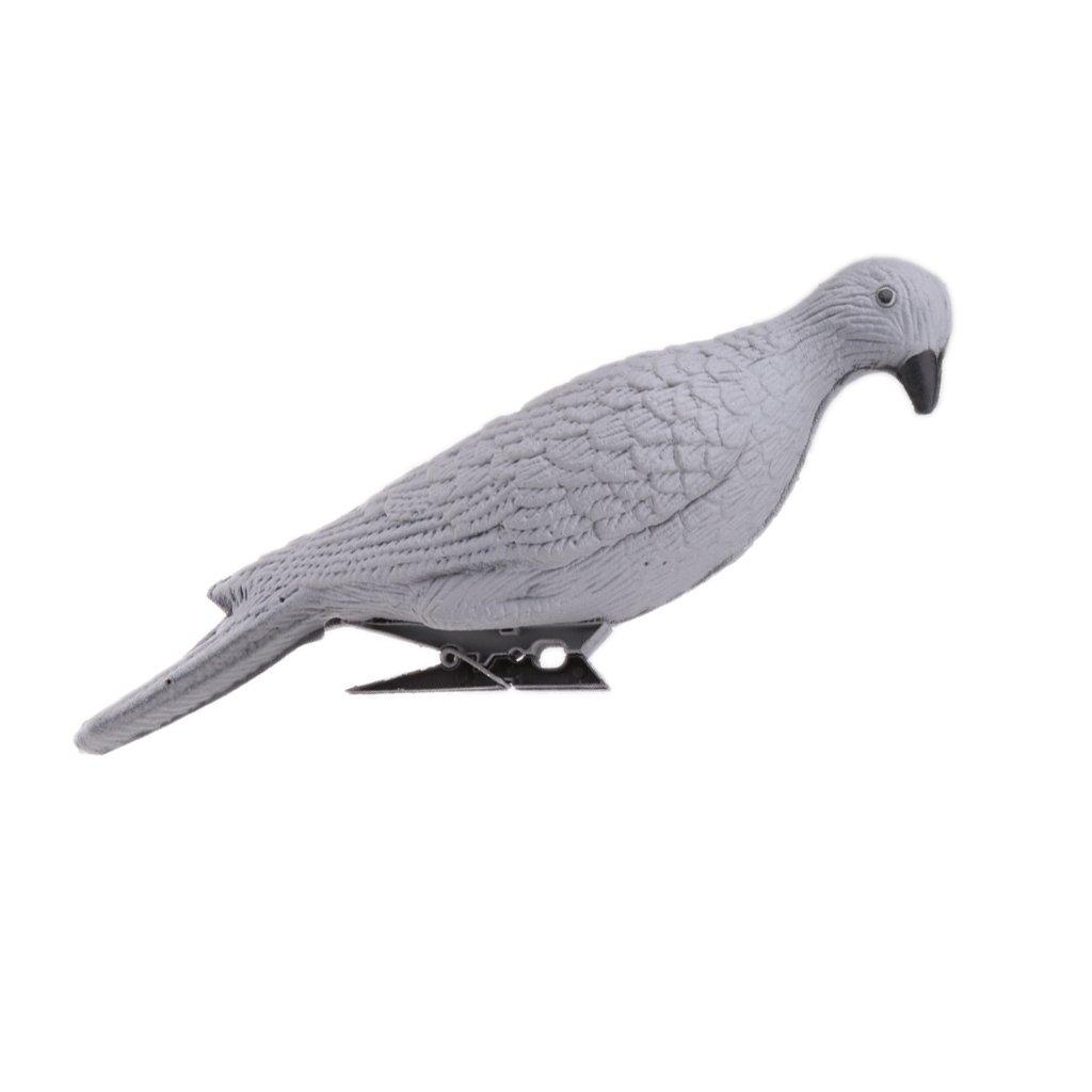 MagiDeal Ré aliste 3D Pigeon Leurre Appâ t Chasse Dé coration de Jardin en Mousse de polyé thylè ne XPE - Gris