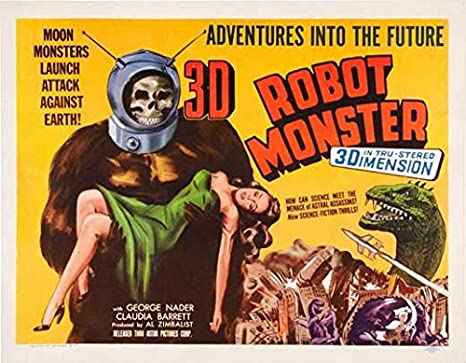 Amazon.com: Robot Monster Cartel de película (22 x 28 inches ...