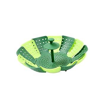 Accesorio de cocción al vapor y # xFF0 C; escalable plegable Lotus Vapor Cocina Suministros: Amazon.es: Hogar