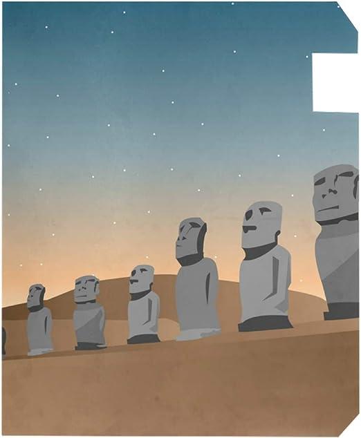 Estatua de Pascua Isla Moai Grande magnético buzón Cubierta Home Garden Decor, 2 tamaños: Amazon.es: Jardín