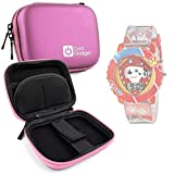 Pink Hard EVA Shell Case with Carabiner Clip & Twin Zips for the Nickelodeon Kids PAW4016 Paw Patrol Watch - by DURAGADGET