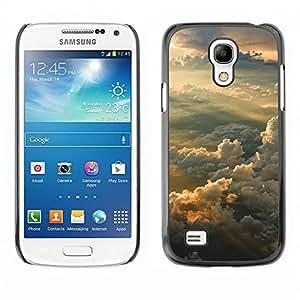 LECELL--Funda protectora / Cubierta / Piel For Samsung Galaxy S4 Mini i9190 -- Puesta del sol soñadora Montañas --