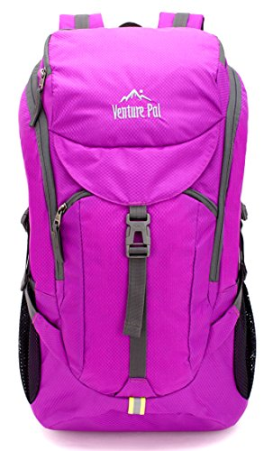 Venture Pal Hiking Backpack – Packable Durable Lightweight Travel Backpack Daypack for Women Men(purple)