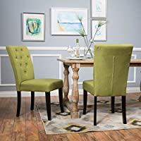 Christopher Knight Home 298393 Nyomi Fabric Dining Chair, Apple