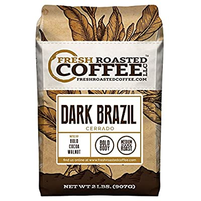 Dark Brazilian Cerrado, Whole Bean Coffee, Fresh Roasted Coffee LLC