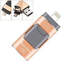 Mobile 128GB Otg USB Flash Drive with Lightning Connector for iPhone & iPad&Android&Computer