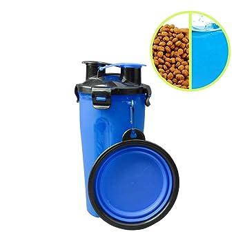 QLF - Recipiente de Agua para Perro, 2 en 1, Plegable, dispensador de