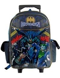 Batman Rolling Backpack - Boys Rolling School Bag