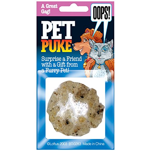 Loftus Realistic Fake Plastic Chunky Pet Barf 2in Puke Gag, Tan ()