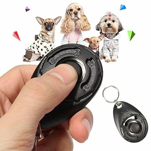 Dog Training Tools Click Clicker - Black Pet Dog Puppy Click Clicker Training Trainer Obedience Aid Teaching Tool by DOM - Dog Training Tools Click Clicker by DOM