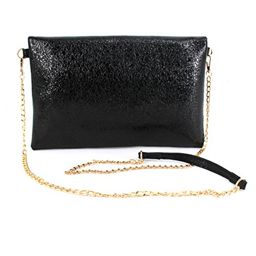 Crossbody Evening Heidi Handbag Large Wristlet Stylish Envelope Women Clutch Black Bag Purse zYww6xqfaO