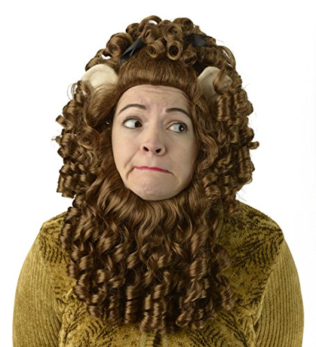 [Cowardly Lion Deluxe Curly Wig] (Cowardly Lion Costumes For Adults)
