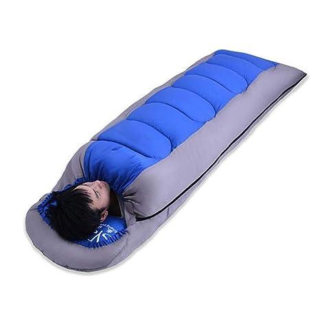 L&L Saco De Dormir Bolsas De Algodón Superligero para Adultos Acampadas Al Aire Libre, Espesadas