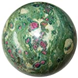 Ruby Fuchsite Ball 55 Extremely Loaded Precious Gems Crystal Wellness Health Stone Sphere 2.9''
