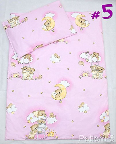 2 Pcs Crib/Cradle/Pram Bedding Set - 70x80cm Duvet Cover & Pillowcase - Pattern 5 Baby Comfort