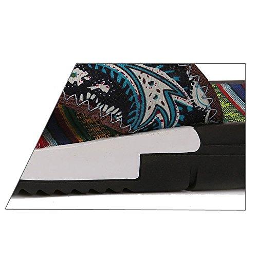 Fondo CN40 Scarpe Blu UK6 Casual dimensioni Antiscivolo Pantofole Pantofole 5 Color Sandali Uomo 1 HUO Uomo Colore Spessore All'aperto Moda Da EU39 Spiaggia Traspirante wfqv14t