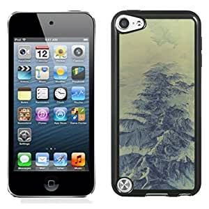 NEW Unique Custom Designed iPod Touch 5 Phone Case With Mountain Range Winter Snow_Black Phone Case