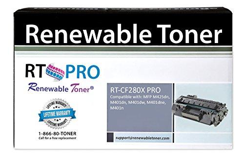 Renewable Toner PRO HP CF280X 80X High Yield 6900 Pages Compatible Toner Cartridge for HP LaserJet Pro 400 Printers MFP M401 M401n M401dw M425dn (Laserjet Printer Cartridge 80a)