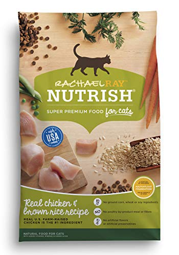 Rachael Ray Nutrish Real Chicken & Brown Rice Recipe Dry Cat Food, 14 Pounds