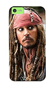 Top Quality Protection Captain Jack Sparrow The Pirates Of The Caribbean Case Cover For Iphone 5c With Appearance/best Gifts For Christmas Day