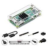 Pi Zero Case, iUniker Raspberry Pi Zero Starter Kit for Raspberry Pi Zero W and Pi Zero 1.3 (Acrylic Clear)