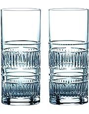 Royal Doulton 40032730 R&D Collection - Vasos altos radiales, 320 ml, par, cristal, transparente