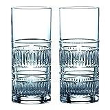 Royal Doulton 40032730 Radial Highball Glasses, 10.8 Ounce, Clear