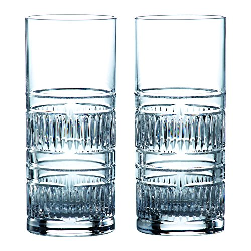 Royal Doulton 40032730 Radial Highball Glasses, 10.8 Ounce, Clear by ROYAL DOULTON