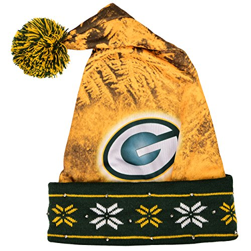 Green Bay Packers Light Up Santa Hat -
