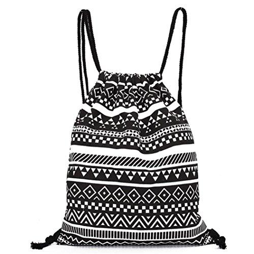 Gym Sack Bag Drawstring Backpack Sport Bag for Men & Women School Travel Backpack Hot Sale Gym Sackpack Gift Printing Bags Duseedik ()