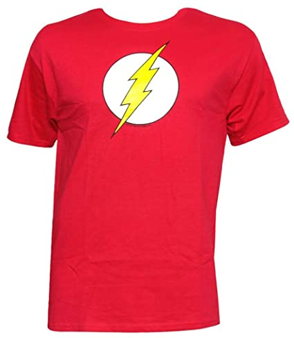 The Flash DC Comics Glow in the Dark Logo T-Shirt Tee Select Shirt Size