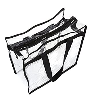 Funiverse 5 Pack Regulation Sized Clear Stadium Tote Bag Perfect for Stadium or Arena Entry