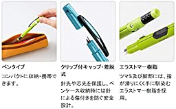 Raymay Pen Style Portable Compass Penpass Regular Lead Type, Green (JC600 M)