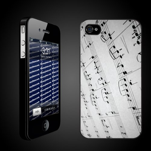 Victory Musical Theme iPhone Case Designs Page Music/Musical Notes - Protective iPhone 4/4S Hard Case-Clear