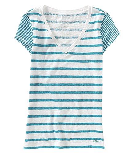Aeropostale Womens Striped Basic T Shirt
